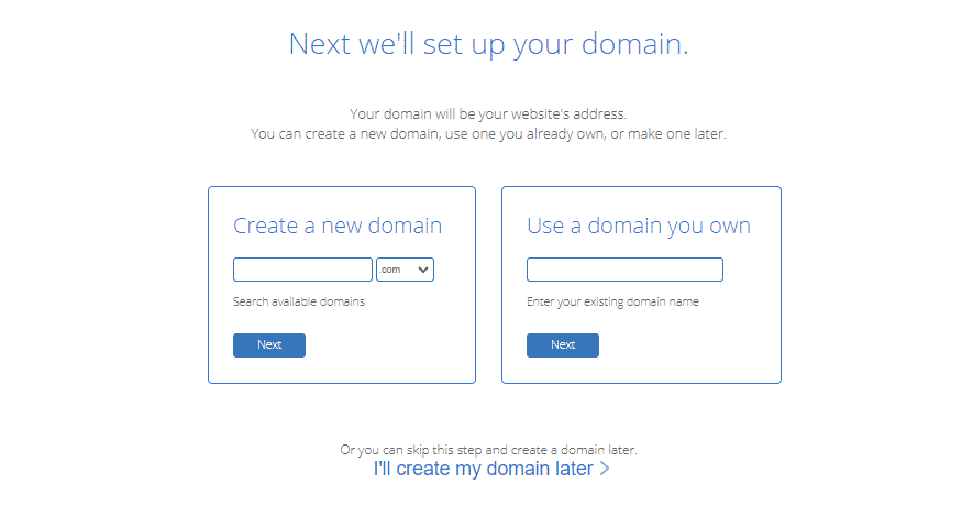 setting up a domain name