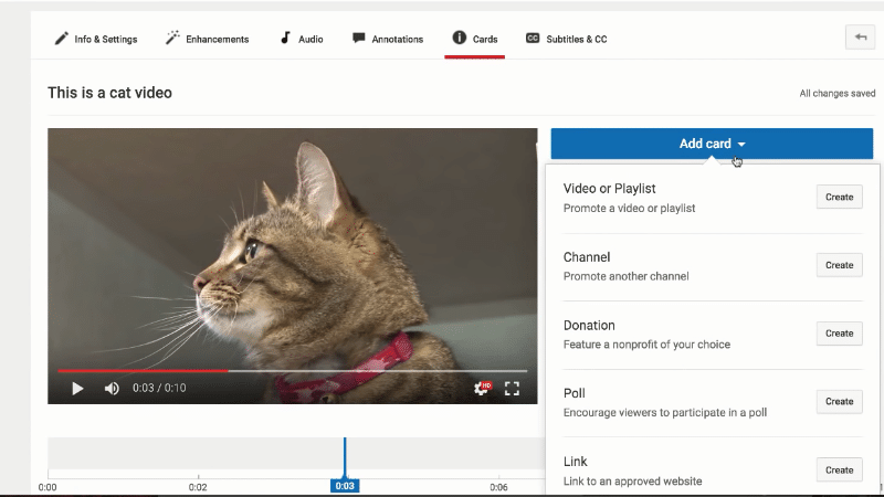 Add a Card to Your YouTube Videos